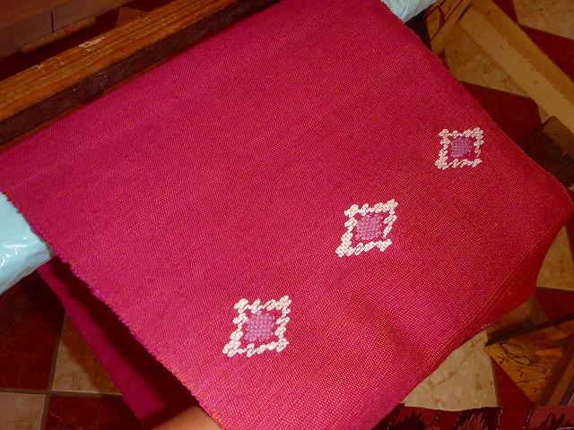 実際に私が織った布(グアテマラ)