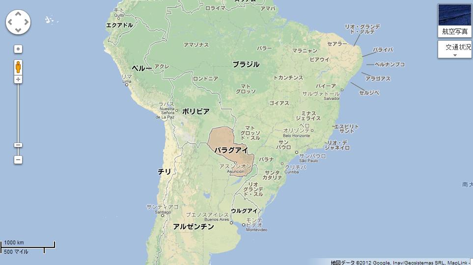 パラグアイの場所